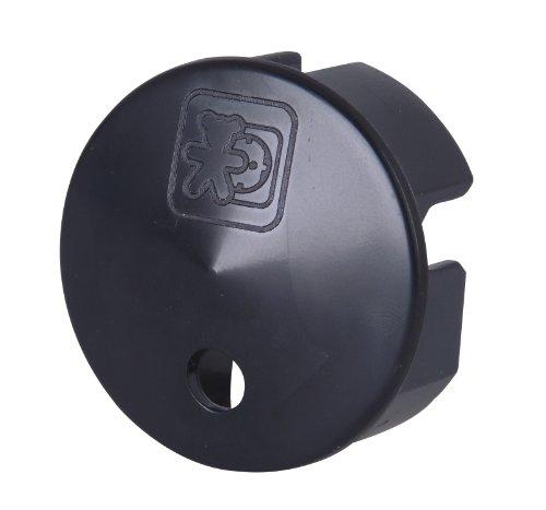 Kopp 320605082 Sicherheitsabdeckung für Steckdose, schwarz