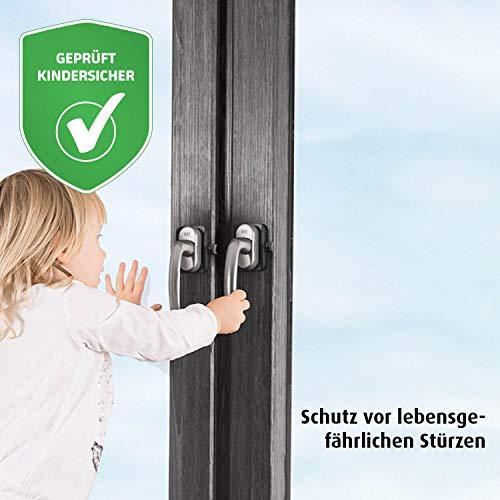reer WinLock Fenster- und Balkontürsicherung, vom schwäbischen Kinder-Sicherheits-Experten, anthrazit